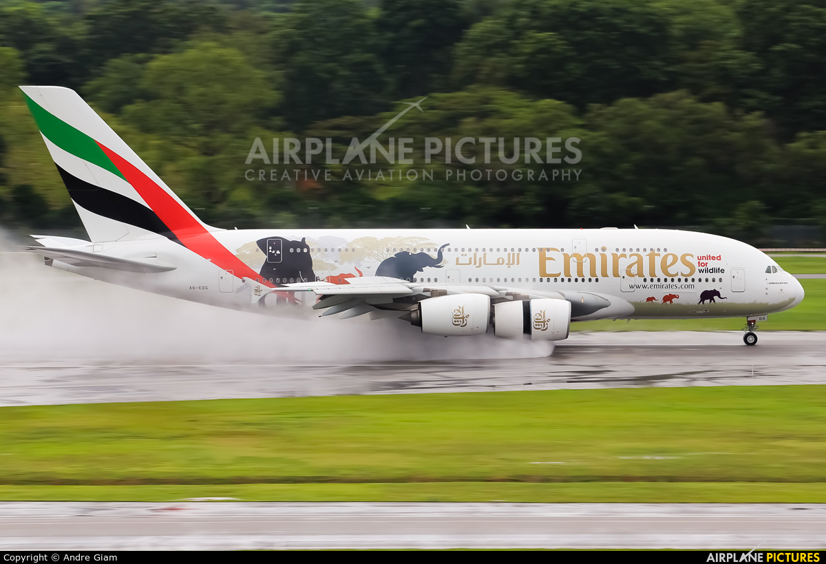 Emirates Airlines A6-EDG aircraft at Singapore - Changi