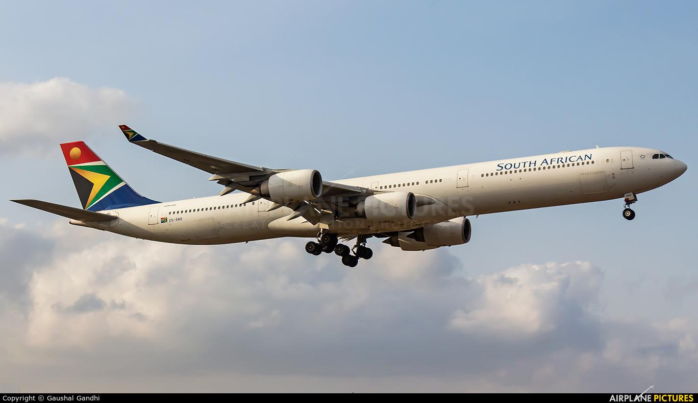 South African Airways ZS-SND aircraft at Mumbai - Chhatrapati Shivaji Intl