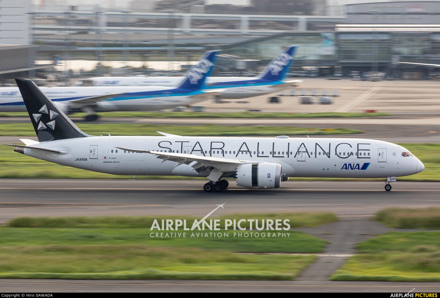 ANA - All Nippon Airways JA899A aircraft at Tokyo - Haneda Intl