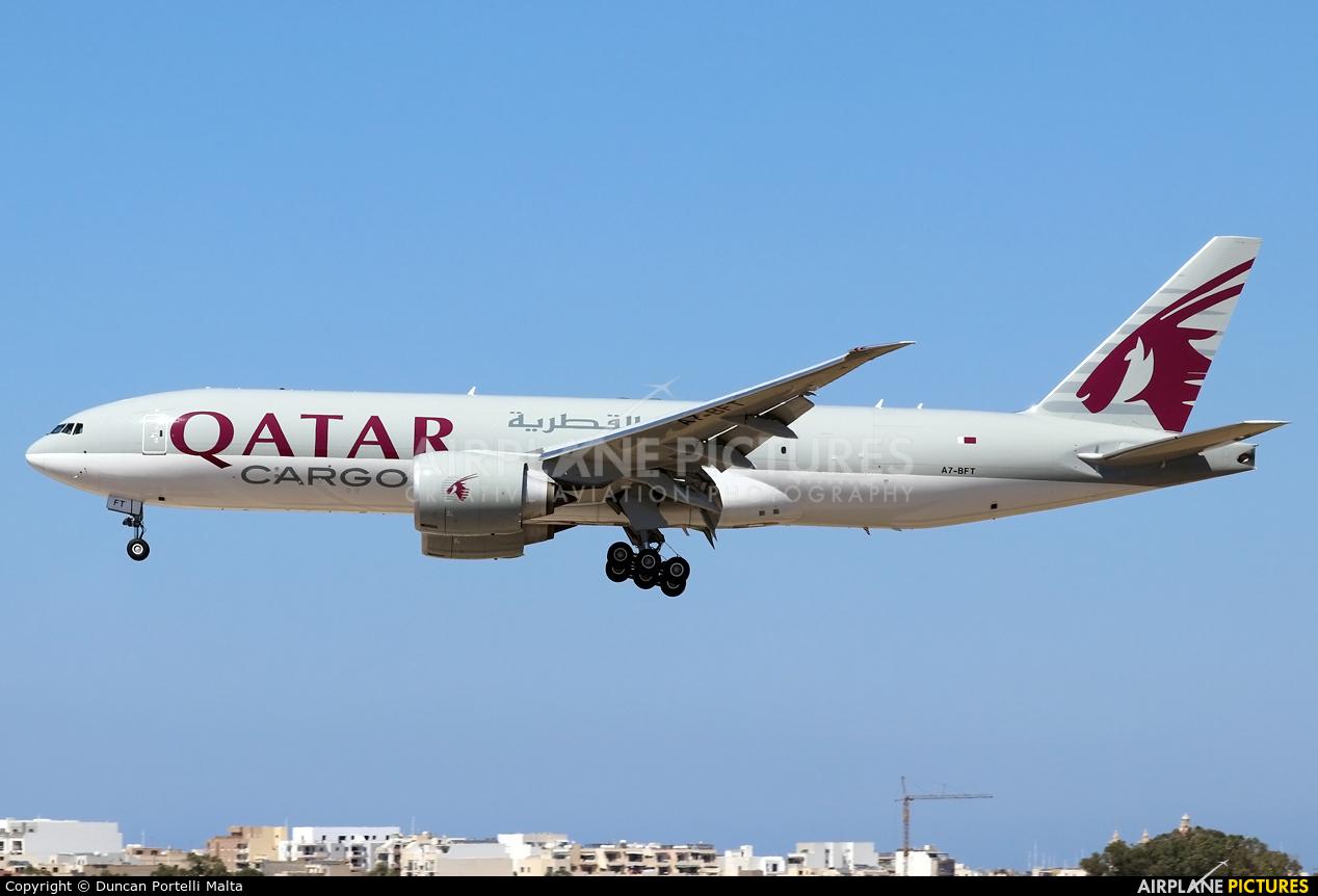 Qatar Airways Cargo A7-BFT aircraft at Malta Intl