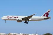 Qatar Airways Boeing 777F visited Malta title=