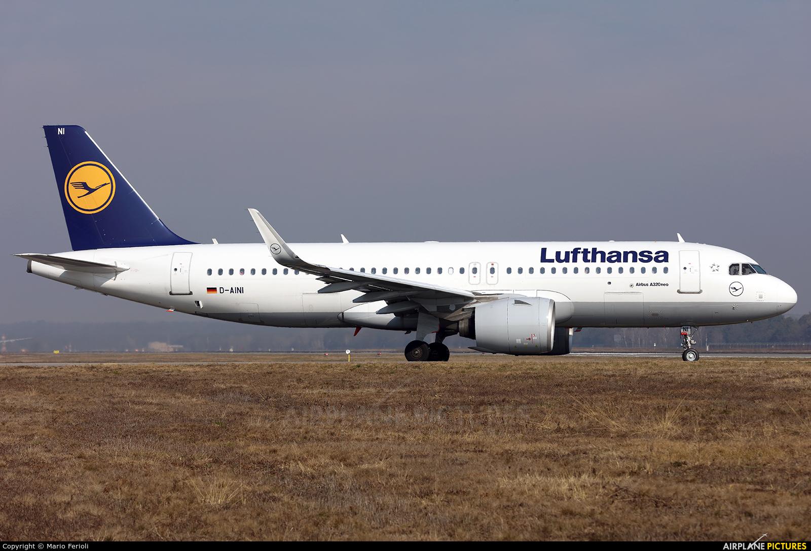 Lufthansa D-AINI aircraft at Milan - Malpensa