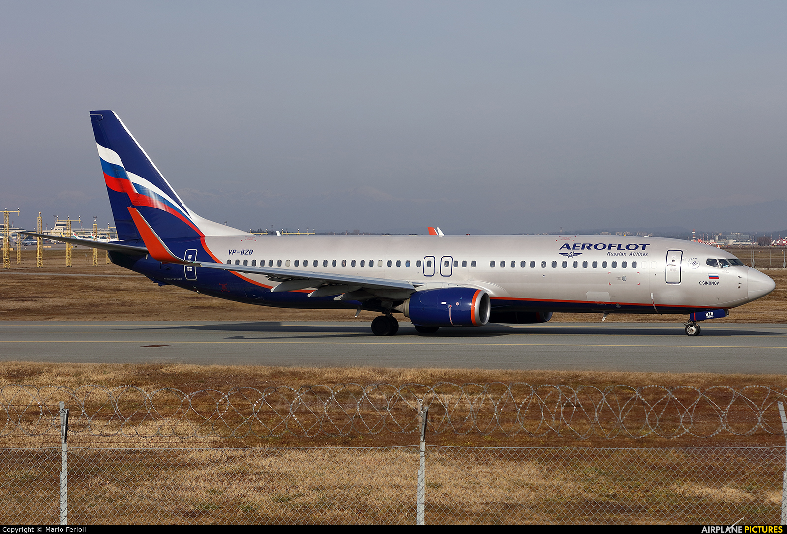 Aeroflot VP-BZB aircraft at Milan - Malpensa