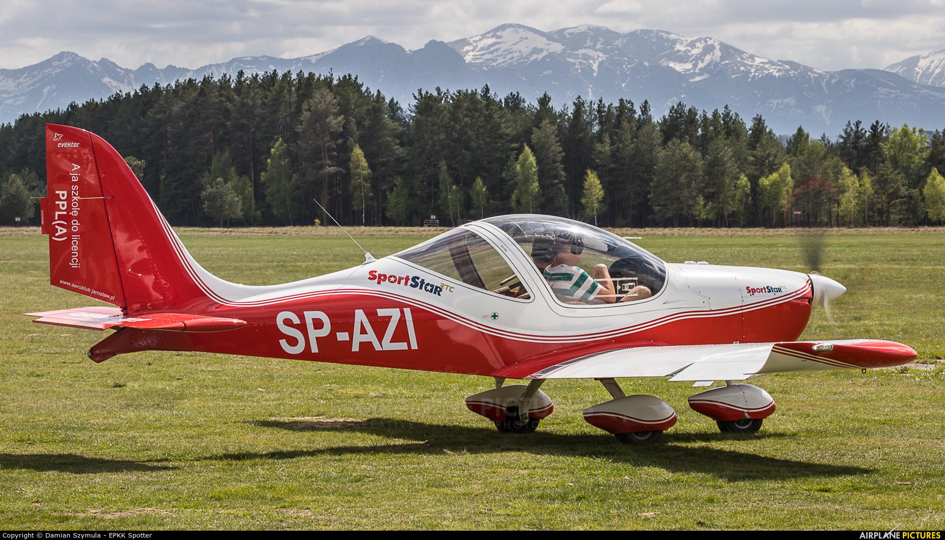 Aeroklub Ziemi Jarosławskiej SP-AZI aircraft at Nowy Targ Airport