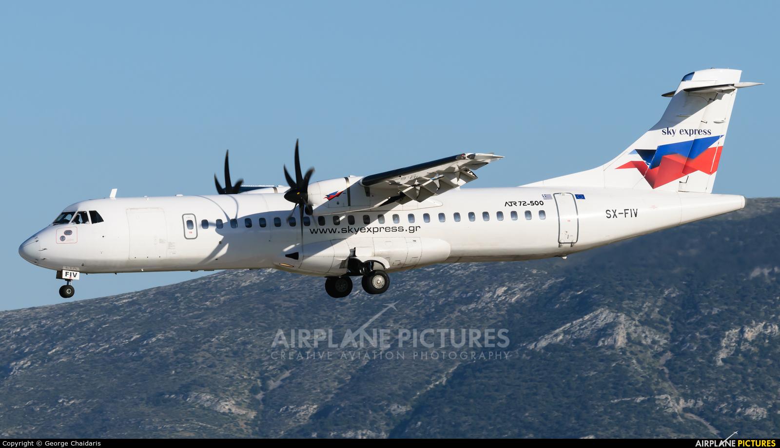 Sky Express SX-FIV aircraft at Athens - Eleftherios Venizelos