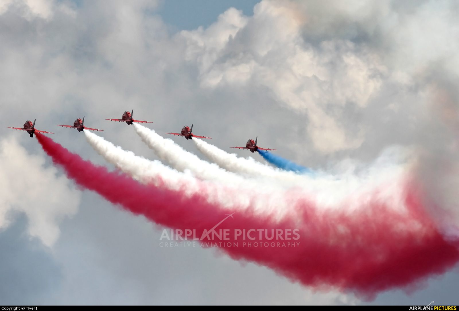 "Royal Air Force ""Red Arrows"" XX227 aircraft at Waddington"