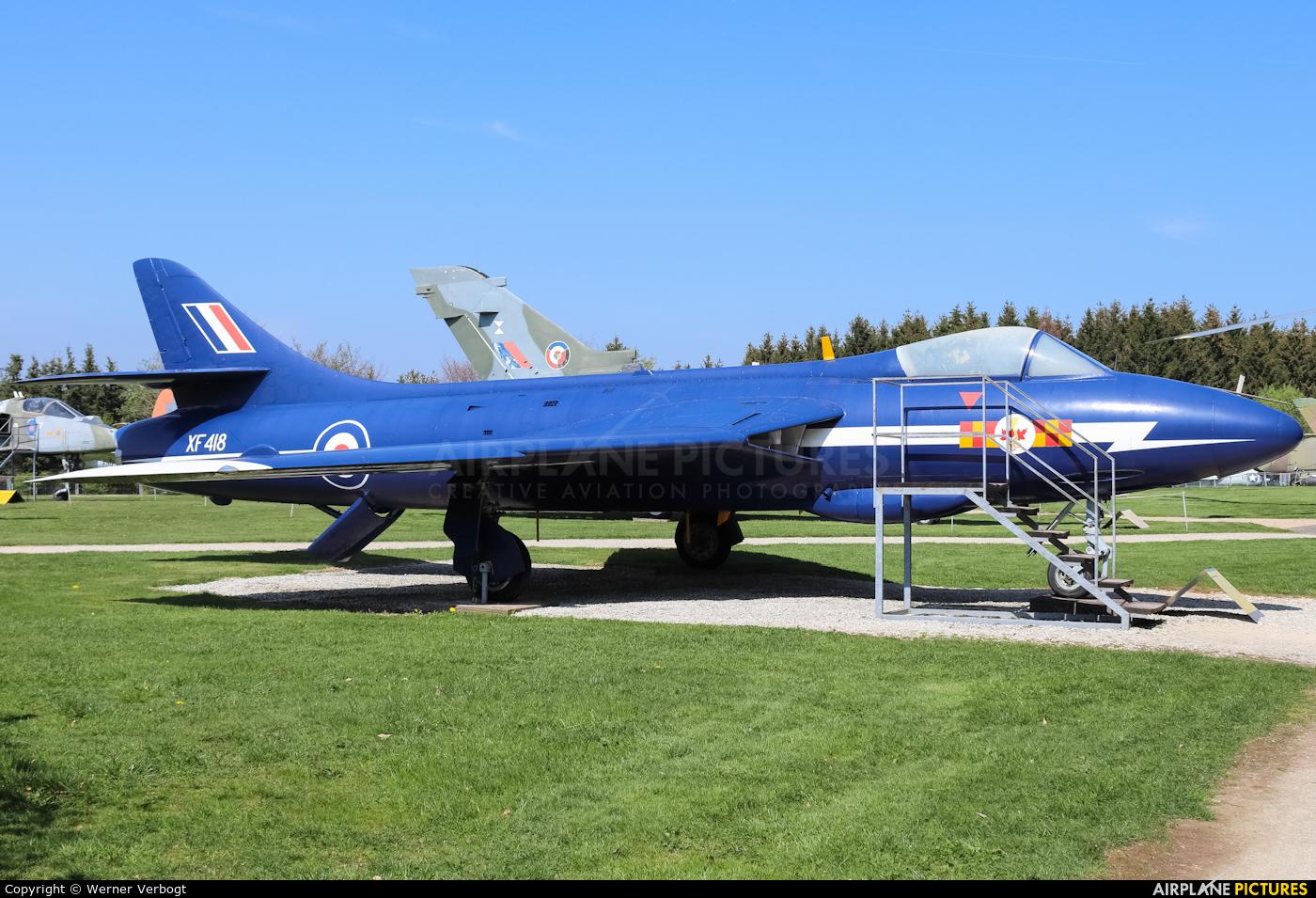 Royal Air Force XF418 aircraft at Hermeskeil