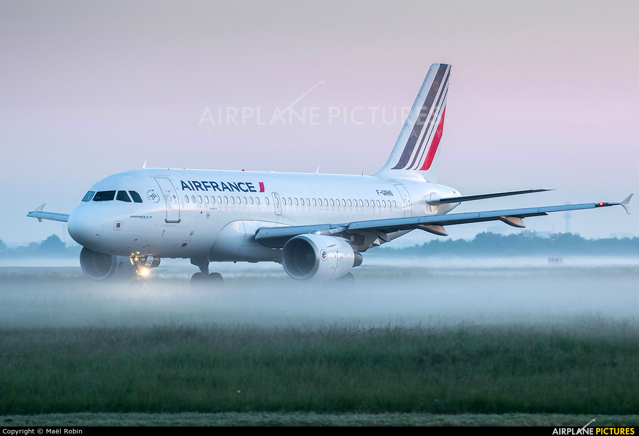 Air France F-GRHQ aircraft at Nantes - Atlantique