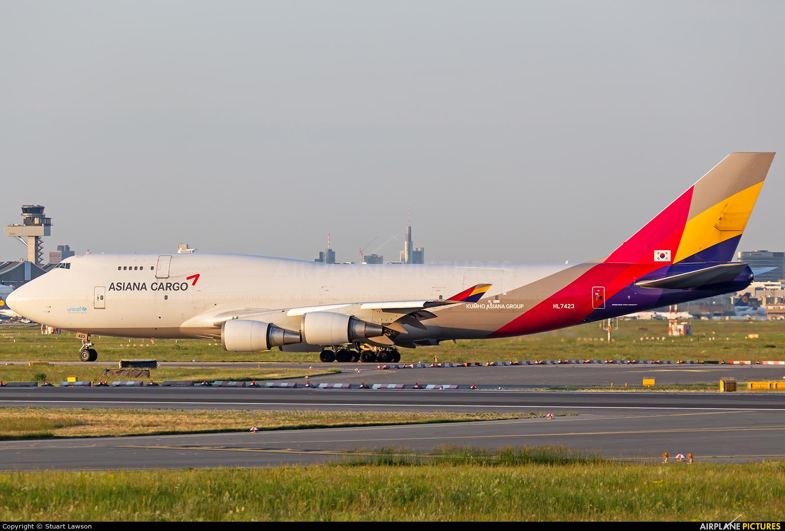 Asiana Cargo HL7423 aircraft at Frankfurt