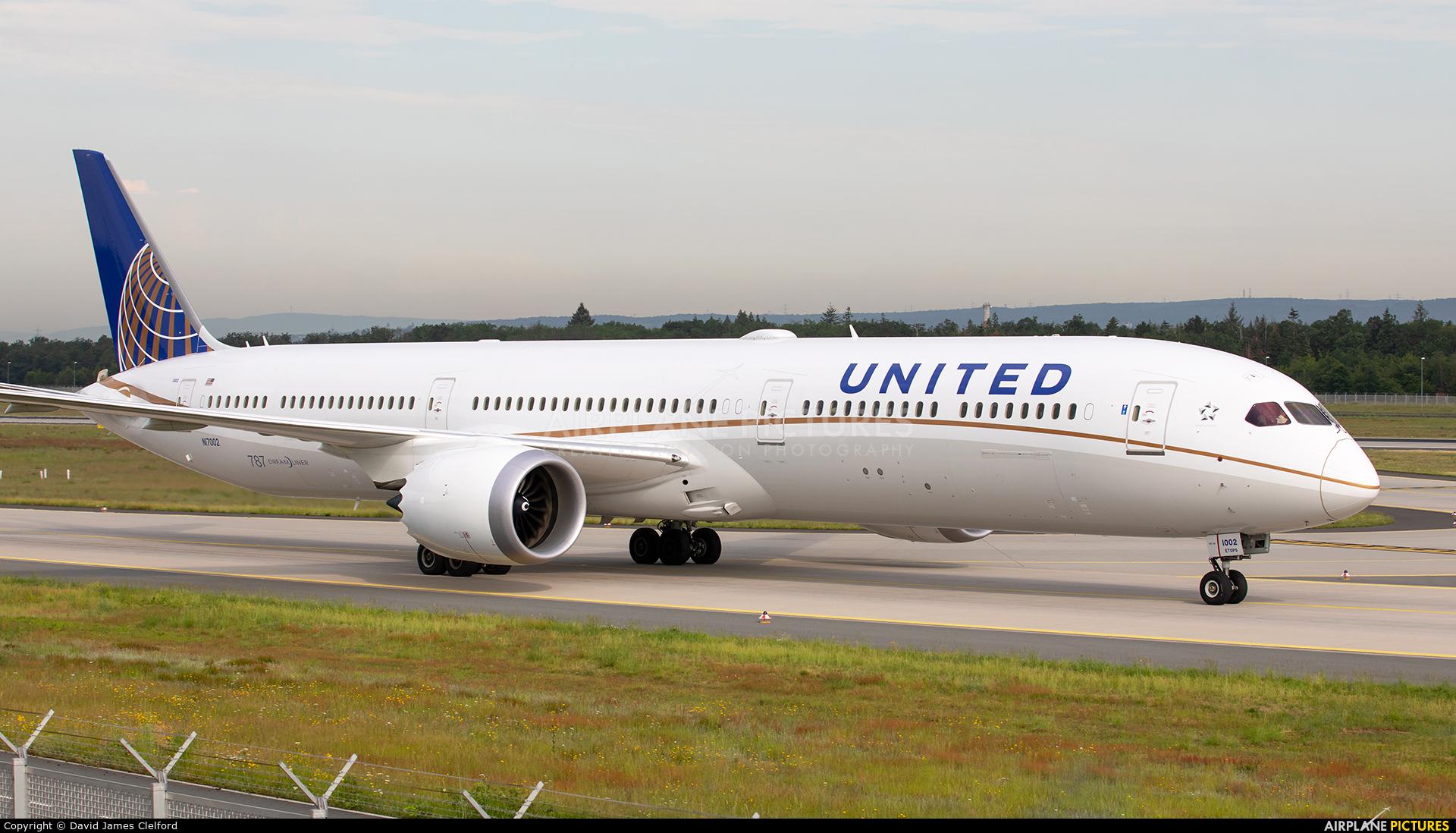 United Airlines N17002 aircraft at Frankfurt