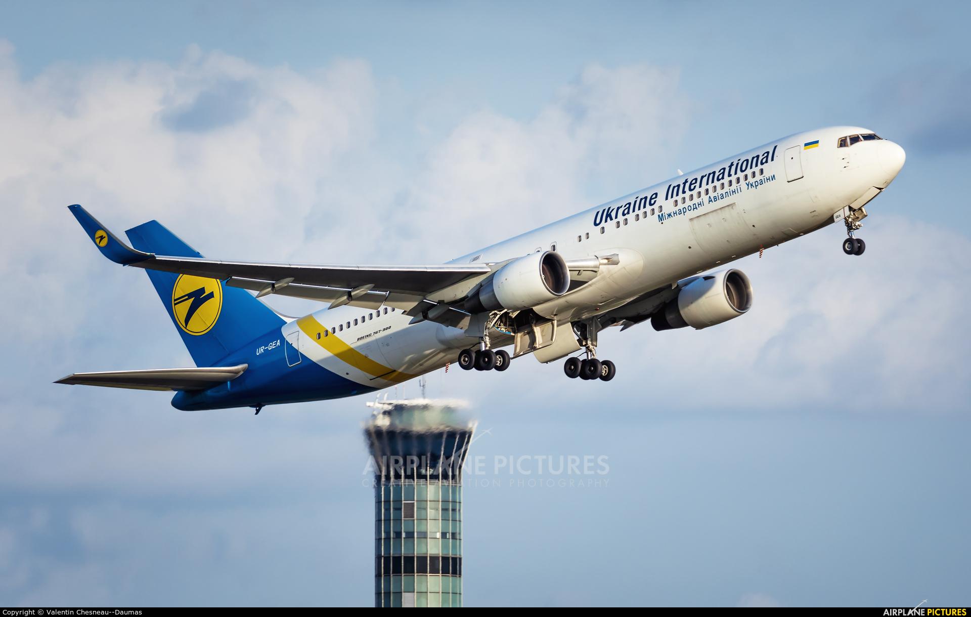 Ukraine International Airlines UR-GEA aircraft at Paris - Charles de Gaulle