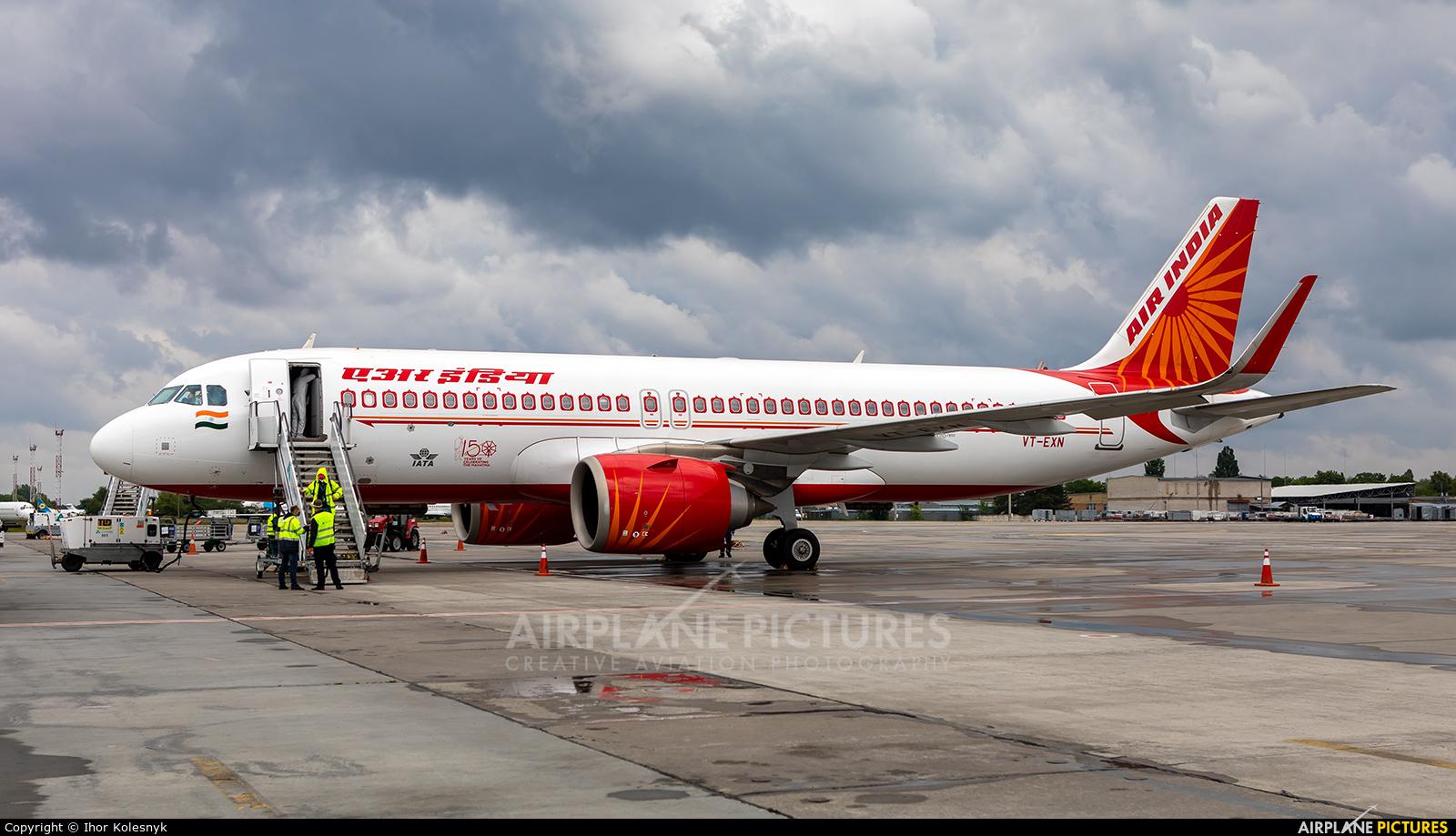 Air India VT-EXN aircraft at Kyiv - Borispol