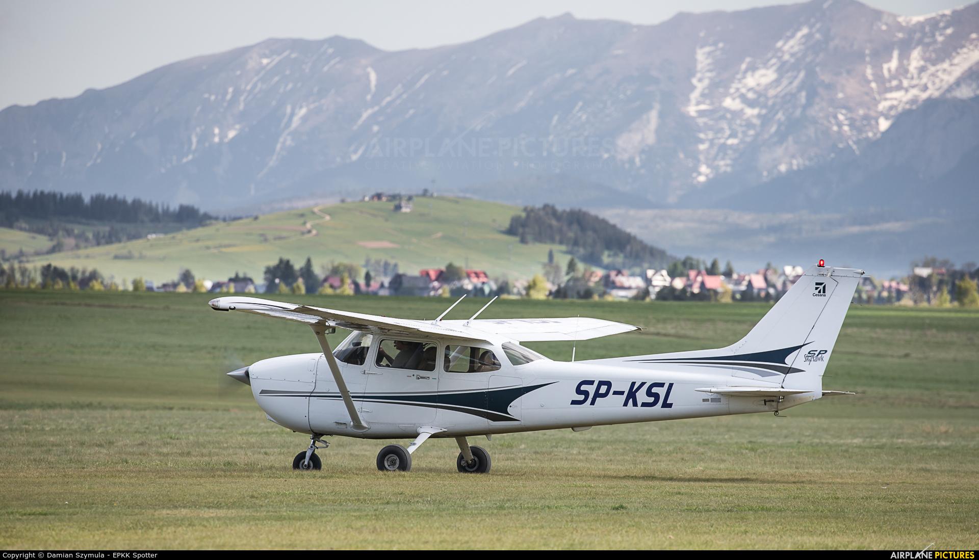 Aeroklub Śląski SP-KSL aircraft at Nowy Targ Airport