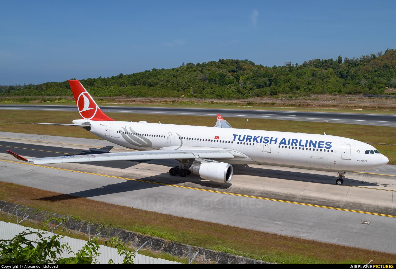 Turkish Airlines TC-JOD aircraft at Phuket