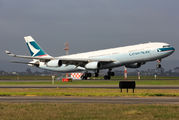 B-HXF - Cathay Pacific Airbus A340-300 aircraft
