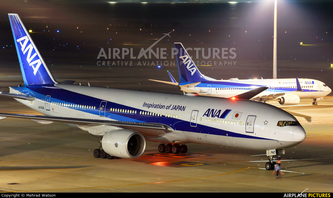 ANA - All Nippon Airways JA742A aircraft at Tokyo - Haneda Intl