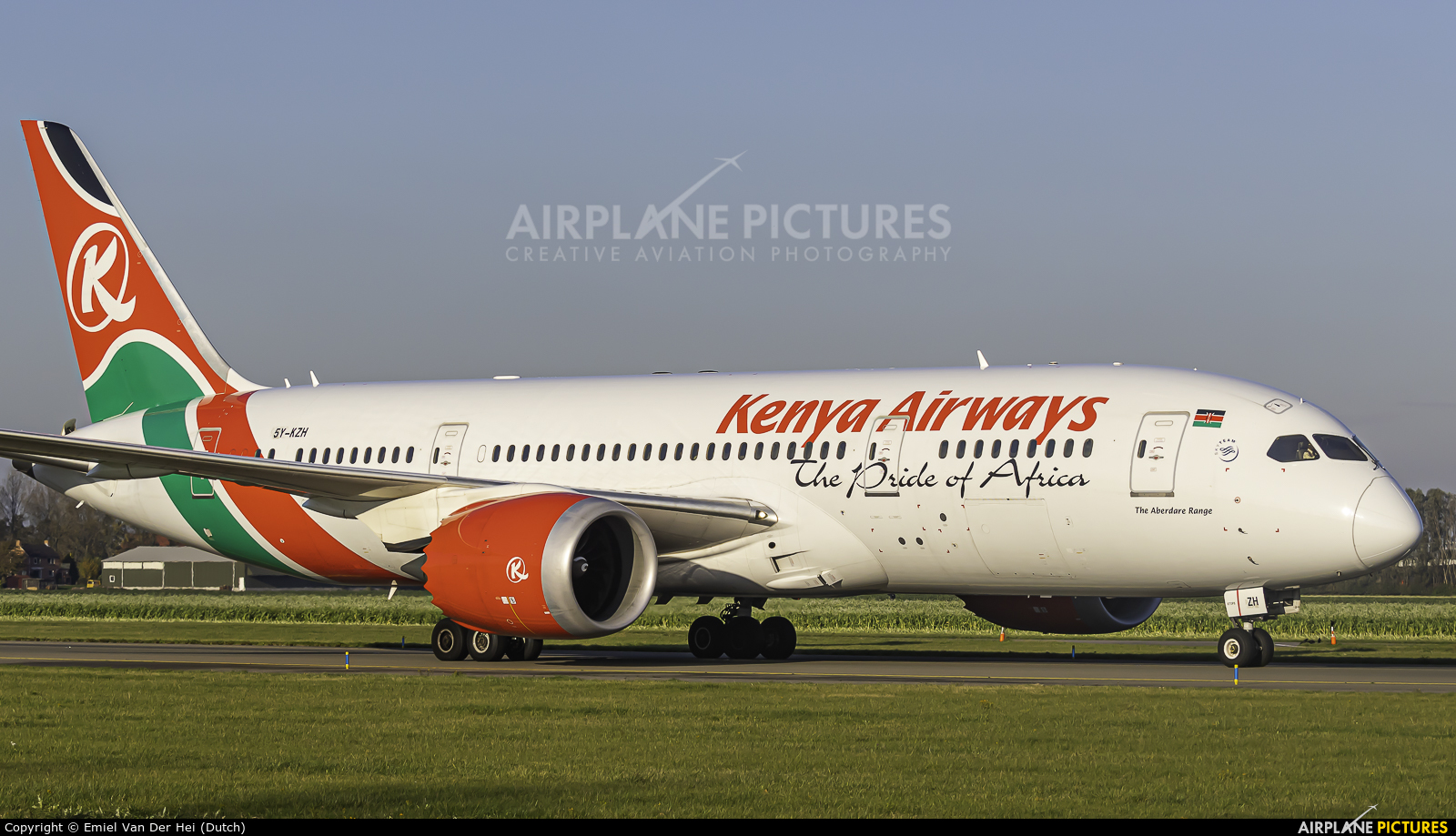 Kenya Airways 5Y-KZH aircraft at Amsterdam - Schiphol