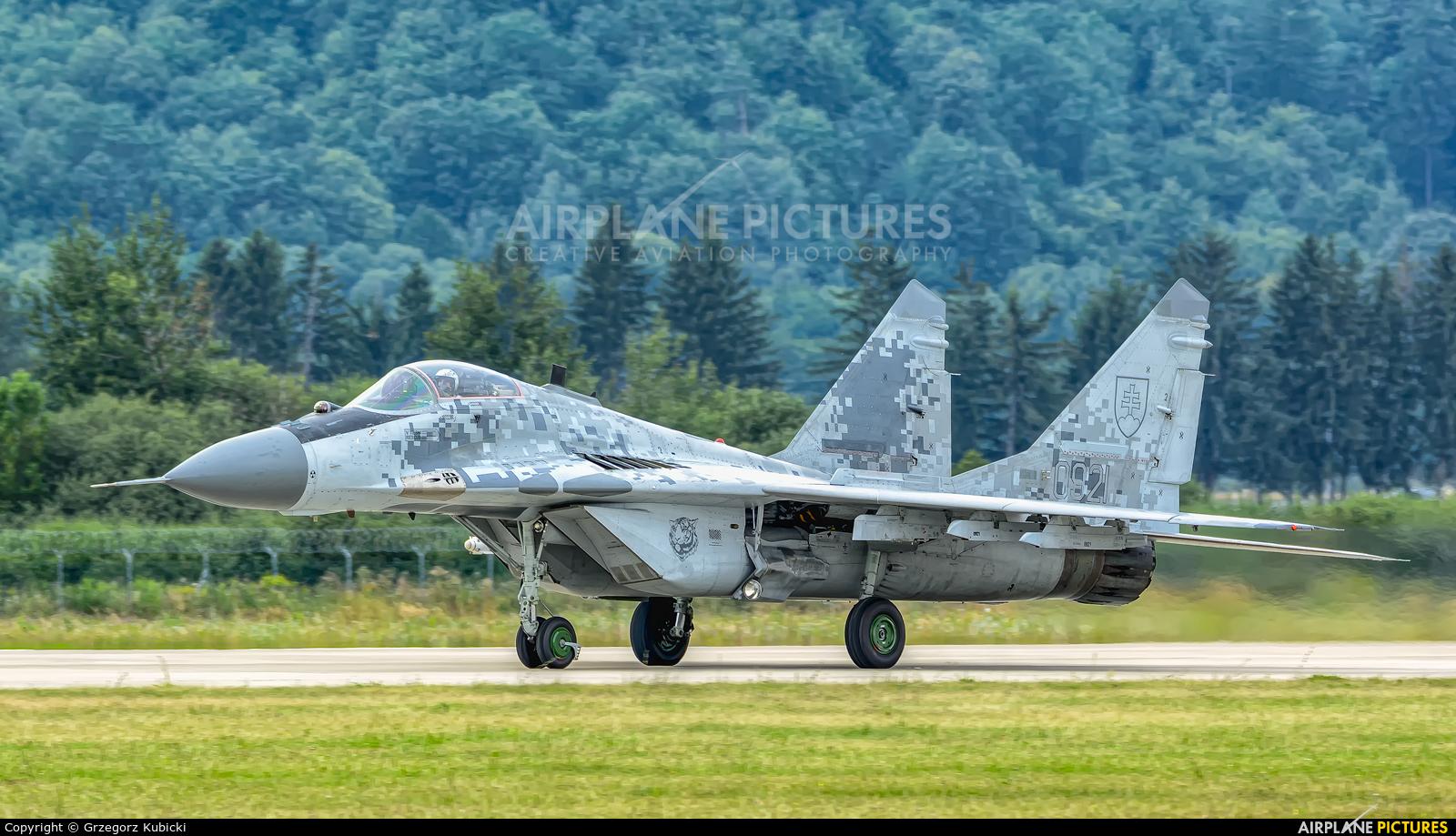 Slovakia -  Air Force 0921 aircraft at Sliač