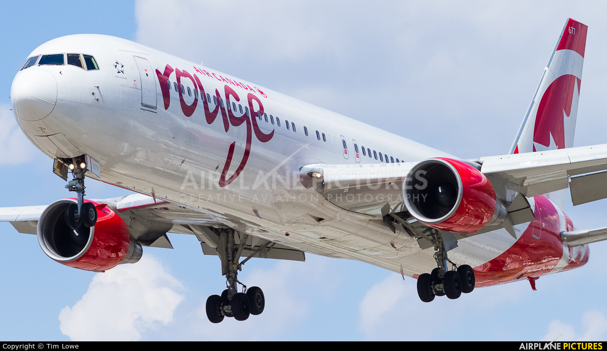 Air Canada Rouge C-FMLZ aircraft at Toronto - Pearson Intl, ON