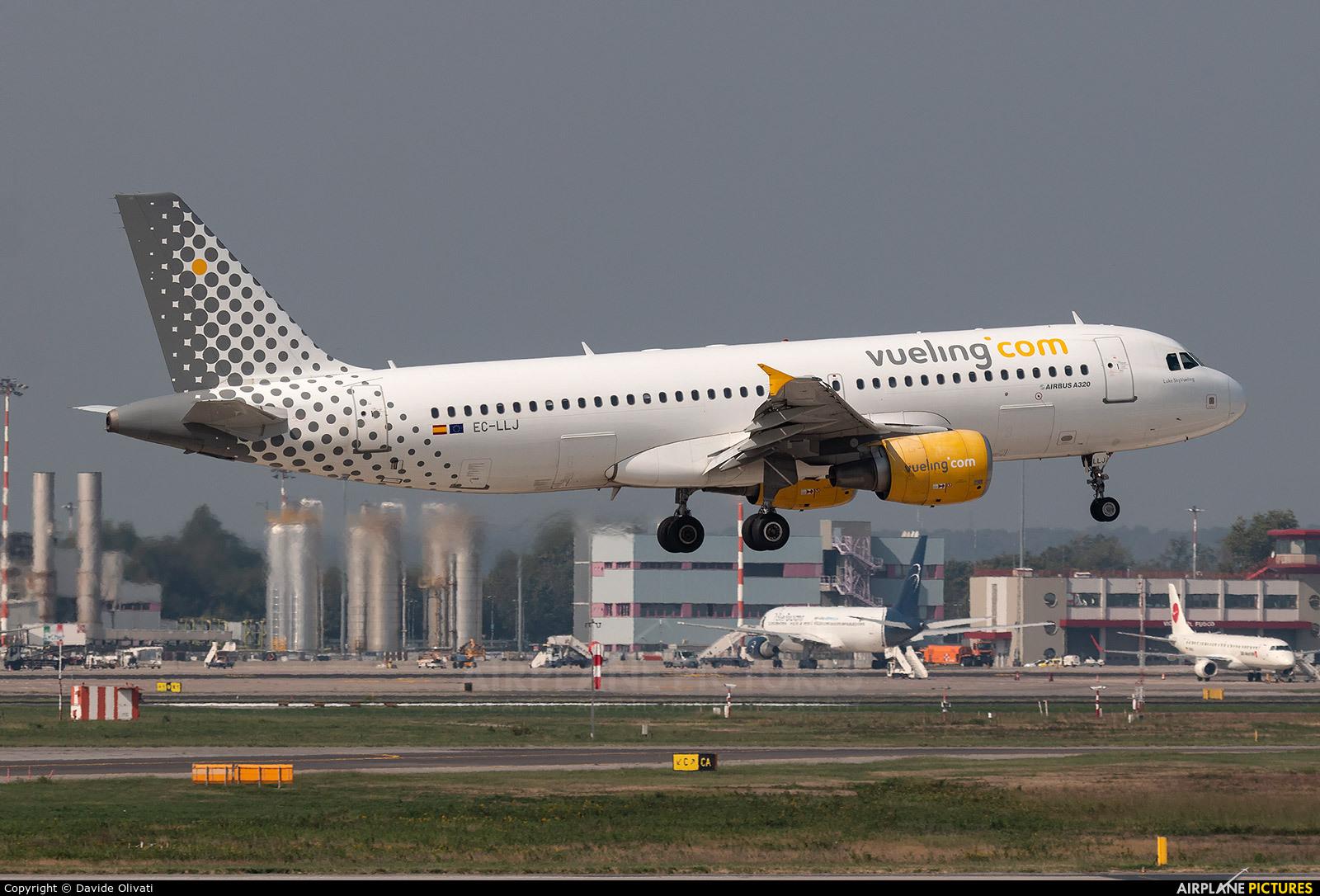 Vueling Airlines EC-LLJ aircraft at Milan - Malpensa
