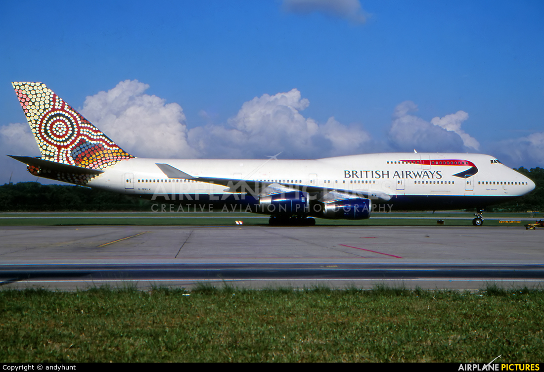 British Airways G-BNLK aircraft at Singapore - Changi