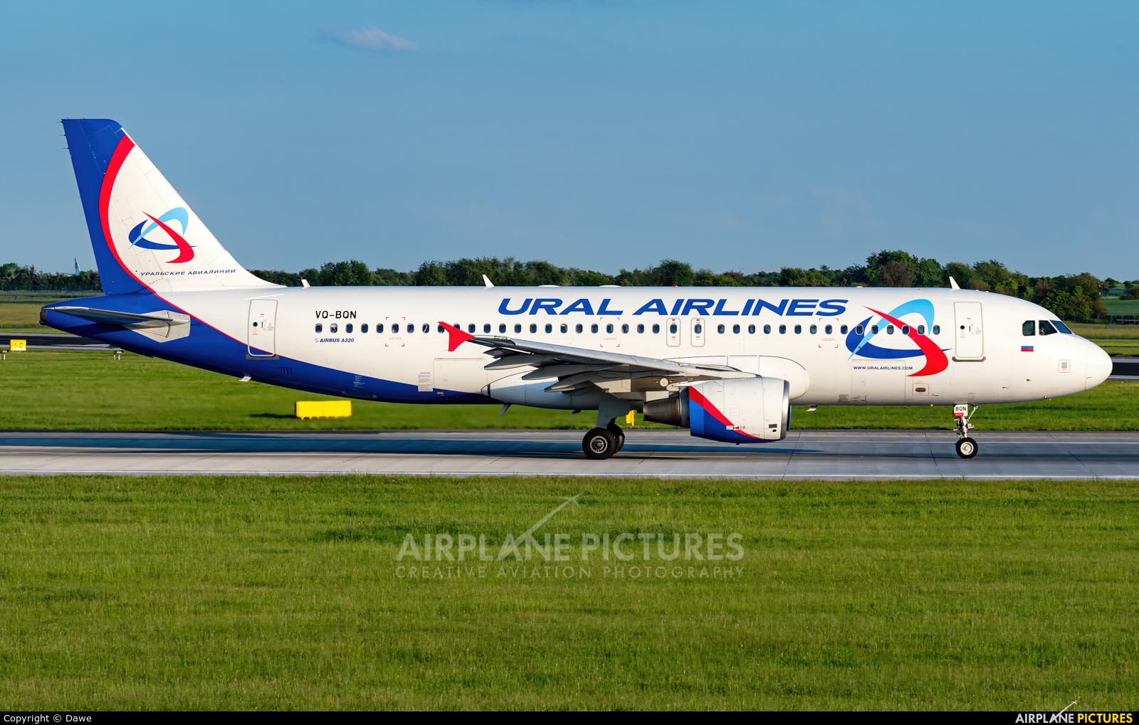 Ural Airlines VQ-BQN aircraft at Prague - Václav Havel