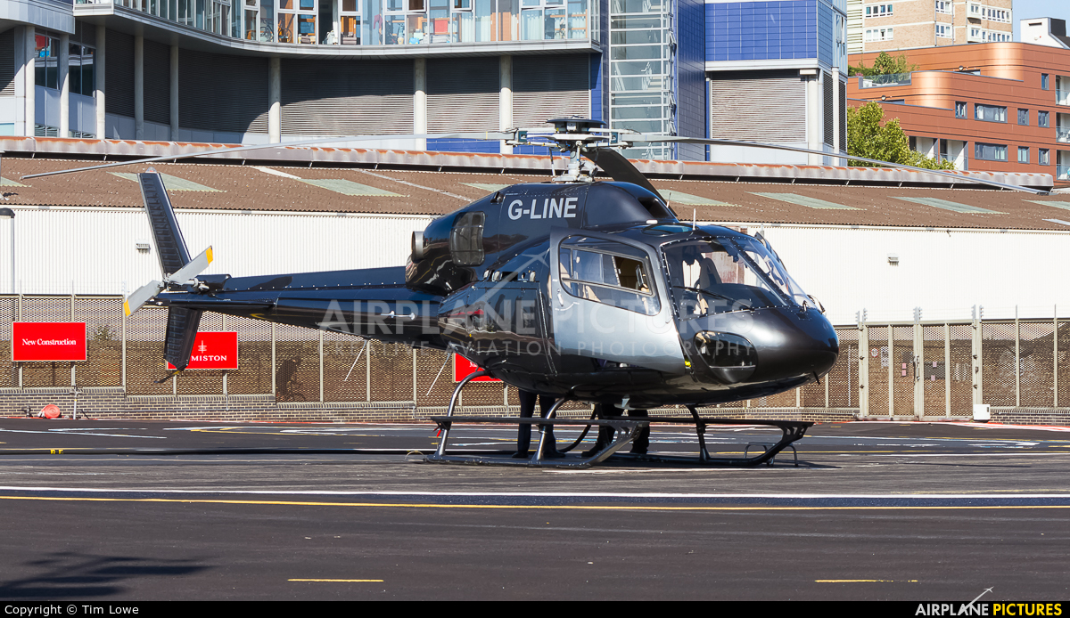 Private G-LINE aircraft at London Heliport