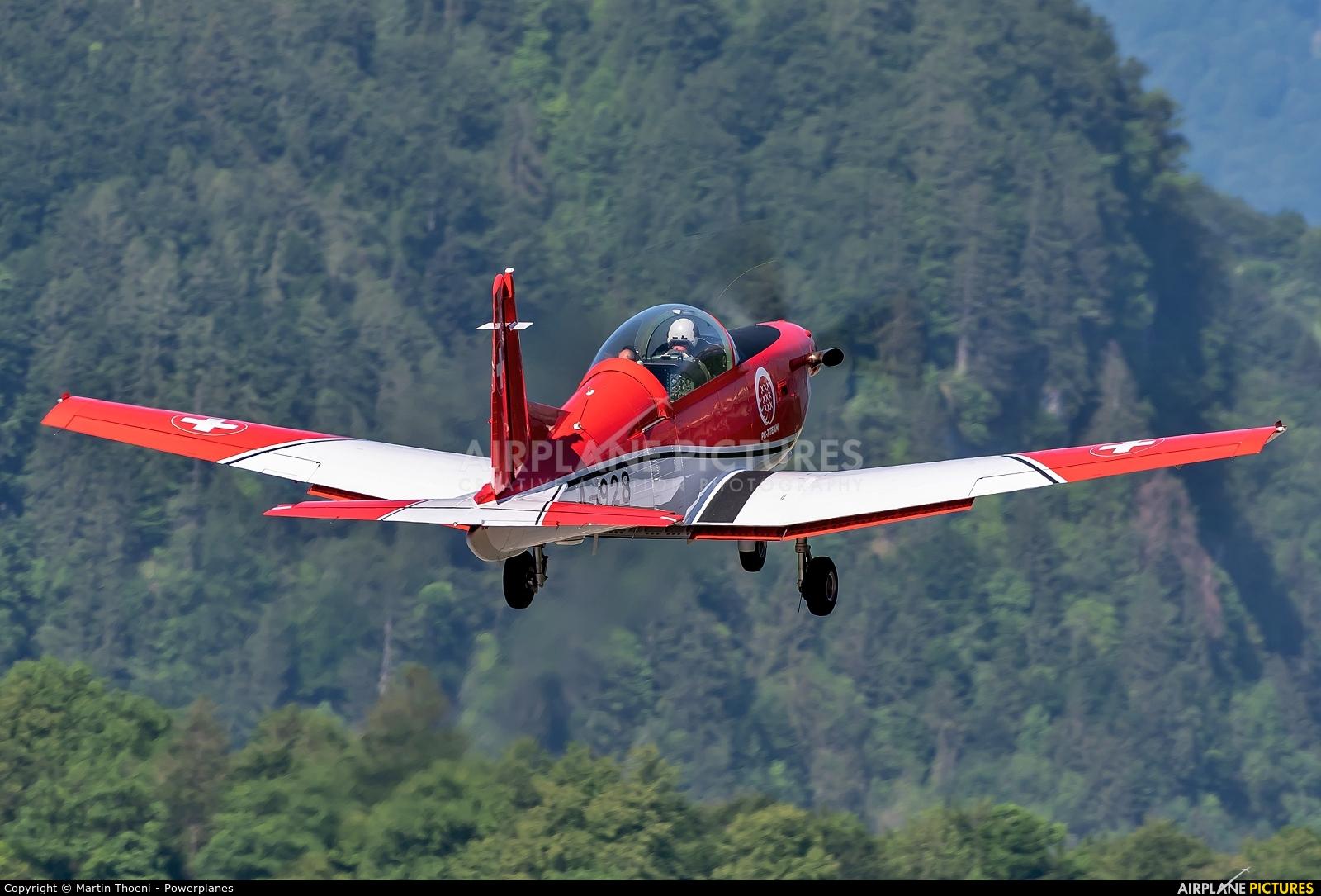 Switzerland - Air Force: PC-7 Team A-928 aircraft at Meiringen