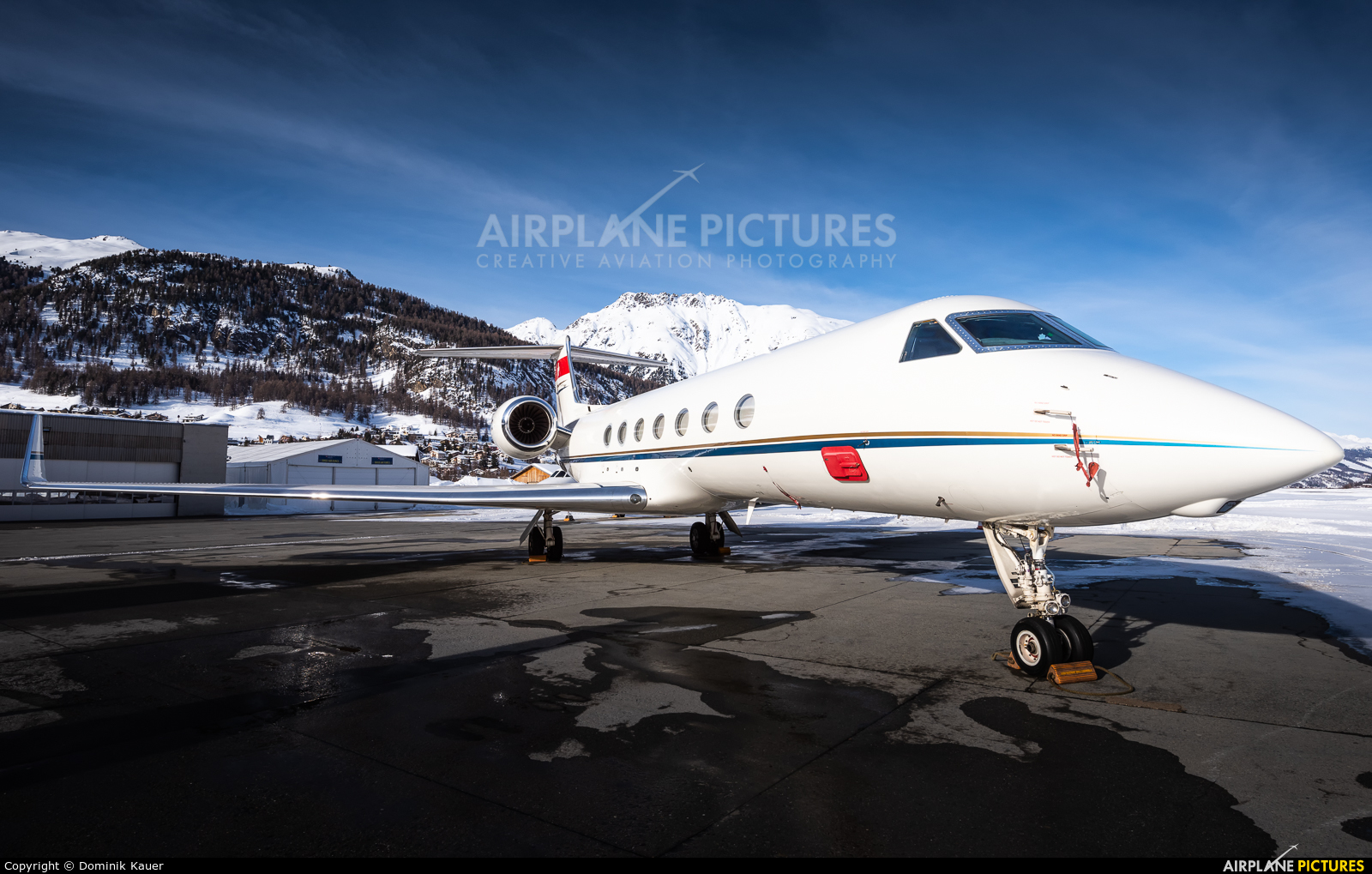 Jet Aviation Business Jets HB-JKC aircraft at Samedan - Engadin