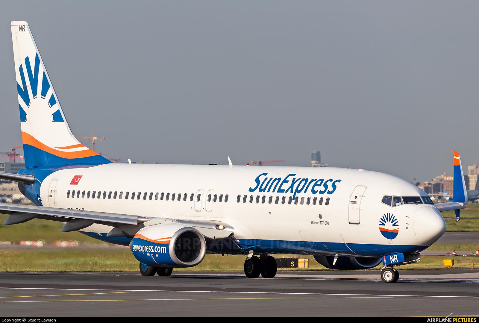 SunExpress TC-SNR aircraft at Frankfurt