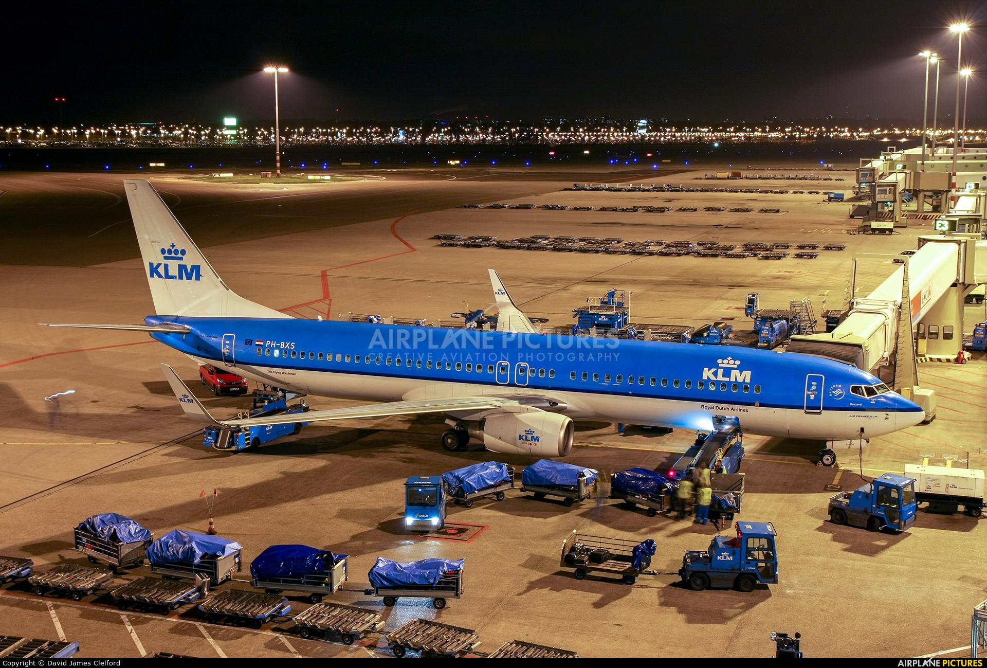 KLM PH-BXS aircraft at Amsterdam - Schiphol