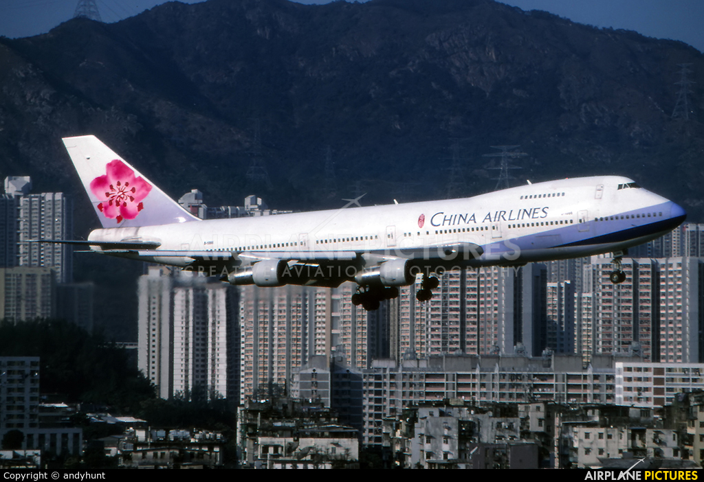 China Airlines B-1866 aircraft at HKG - Kai Tak Intl CLOSED