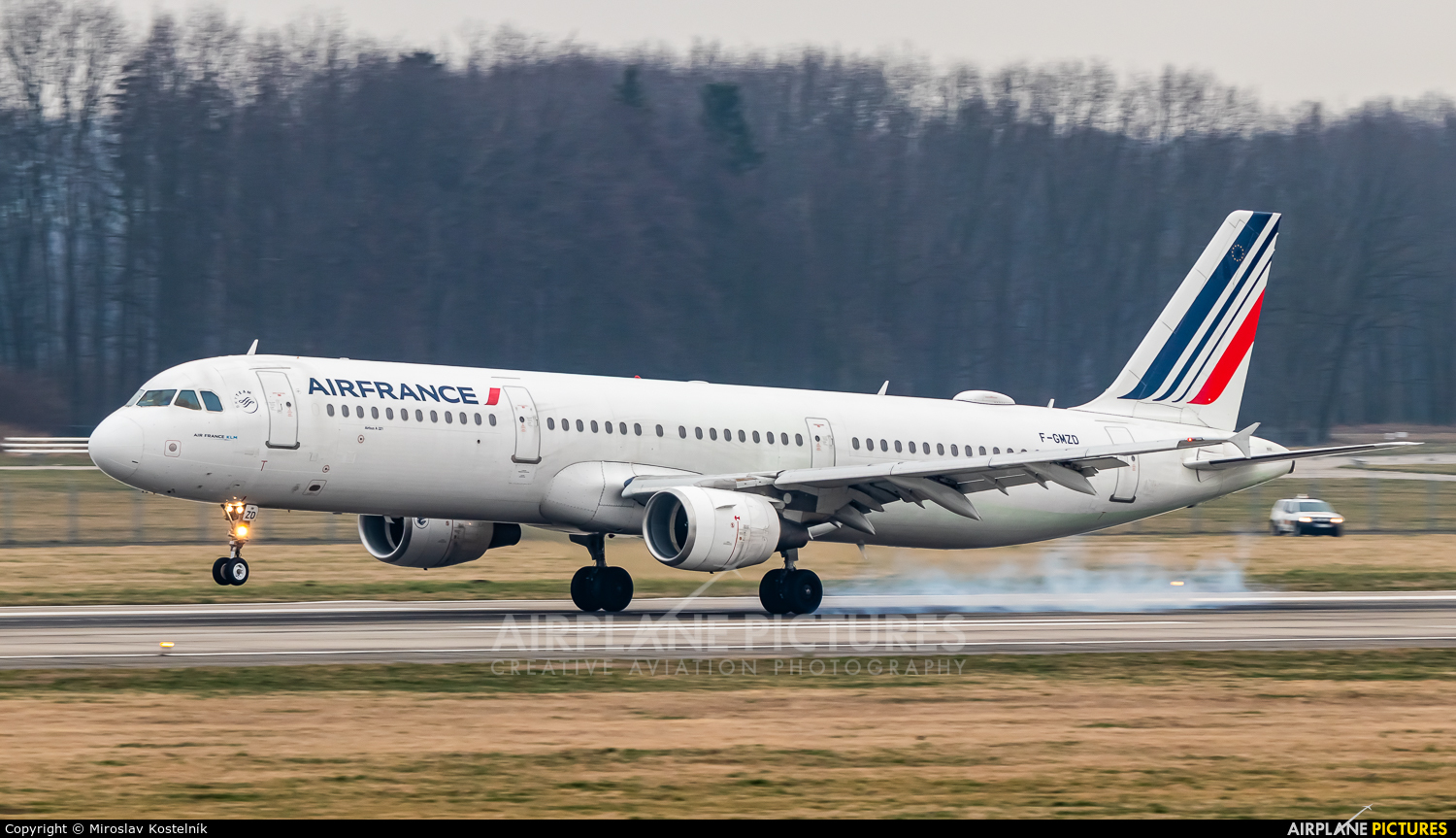 Air France F-GMZD aircraft at Ostrava Mošnov