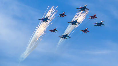"- - Russia - Air Force ""Russian Knights"" Sukhoi Su-27UB"
