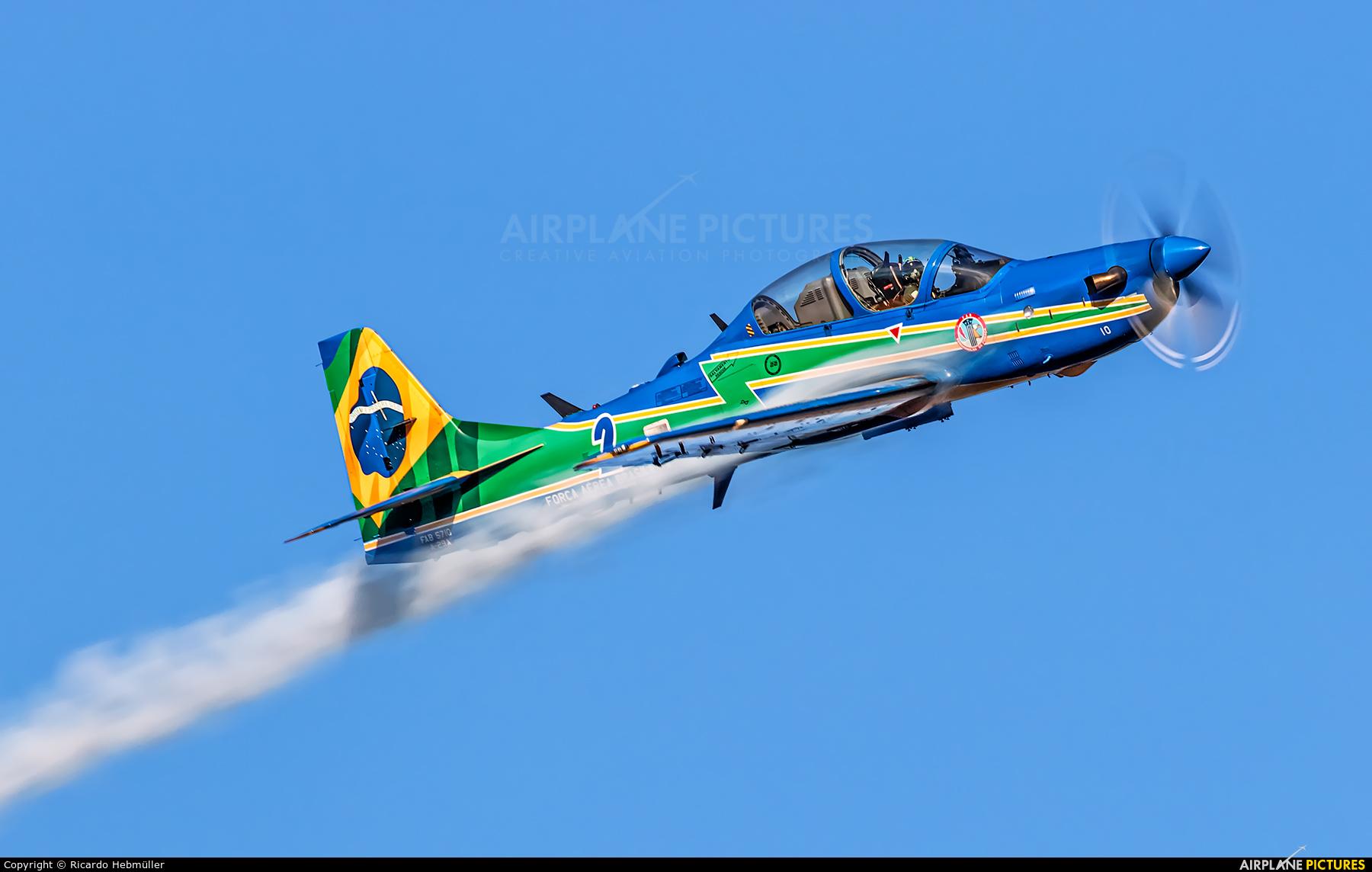 "Brazil - Air Force ""Esquadrilha da Fumaça"" 5710 aircraft at Taubaté"