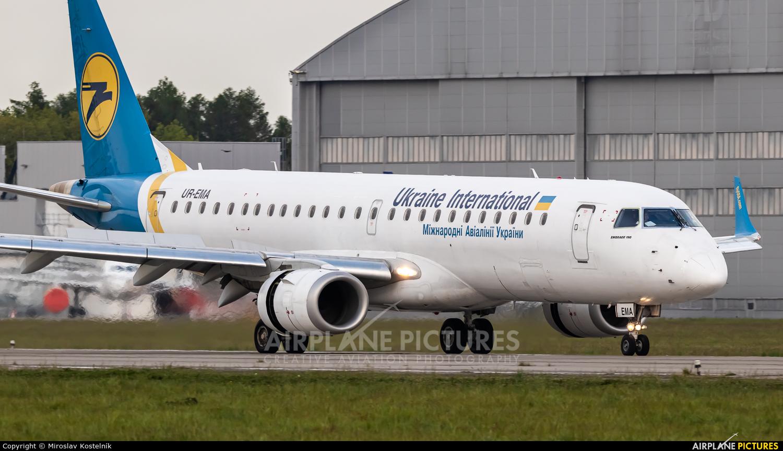 Ukraine International Airlines UR-EMA aircraft at Ostrava Mošnov