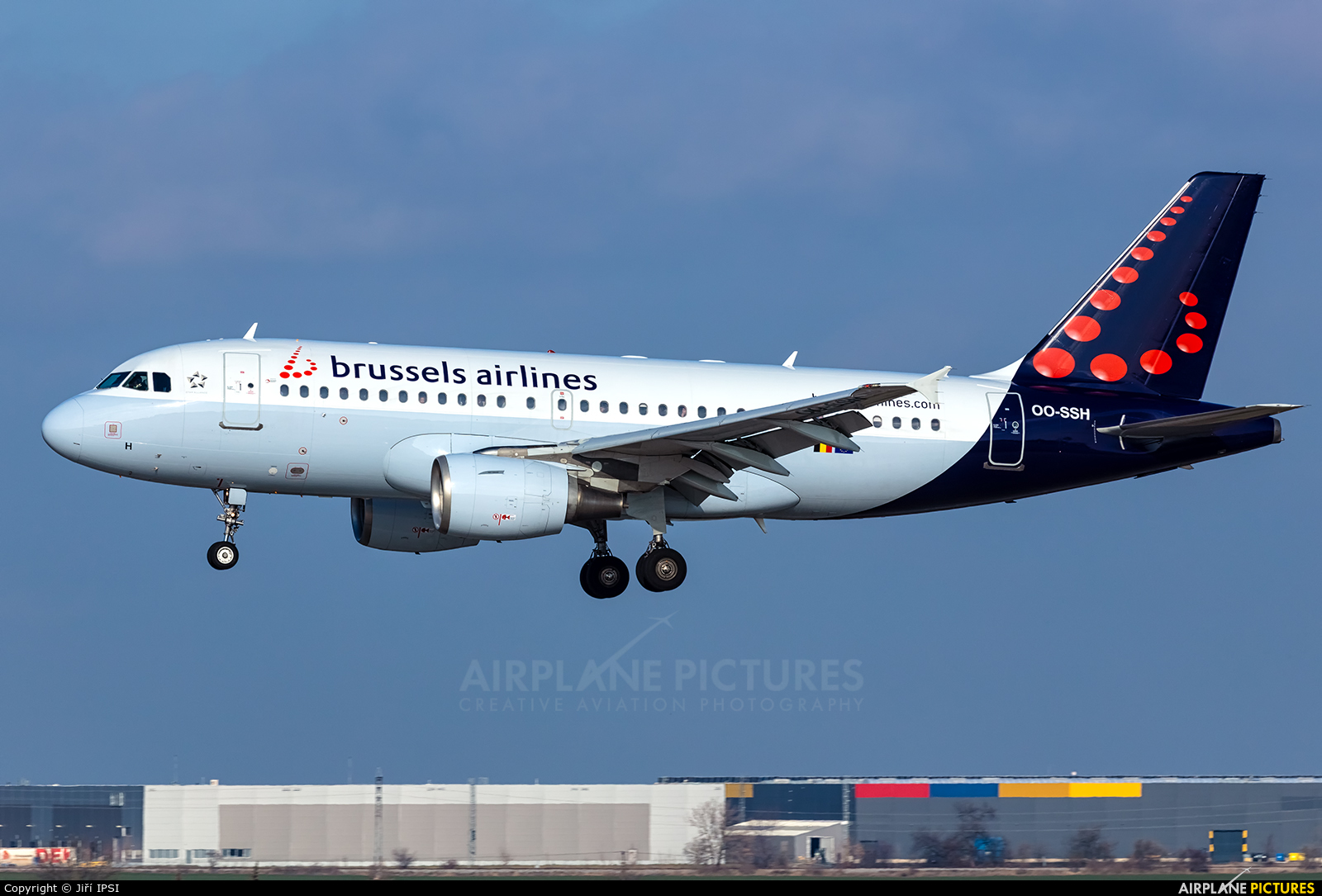 Brussels Airlines OO-SSH aircraft at Prague - Václav Havel
