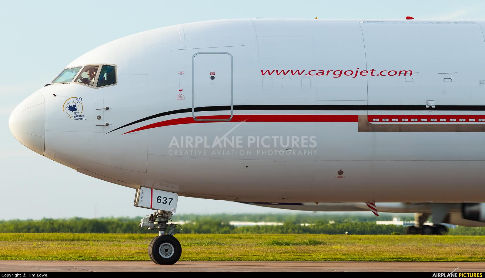 Cargojet Airways C-GVIJ aircraft at greater Moncton International