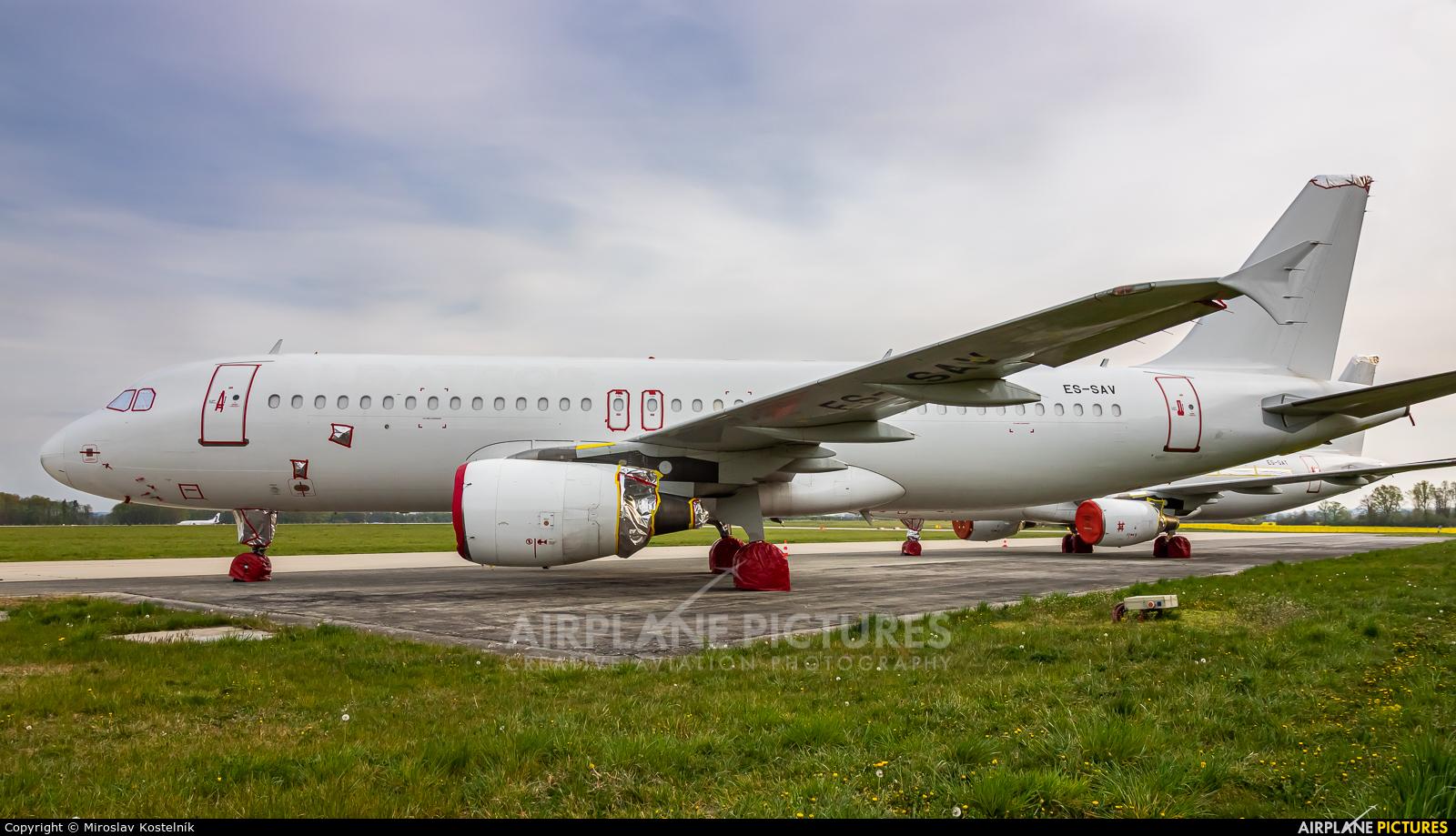 SmartLynx Estonia ES-SAV aircraft at Ostrava Mošnov