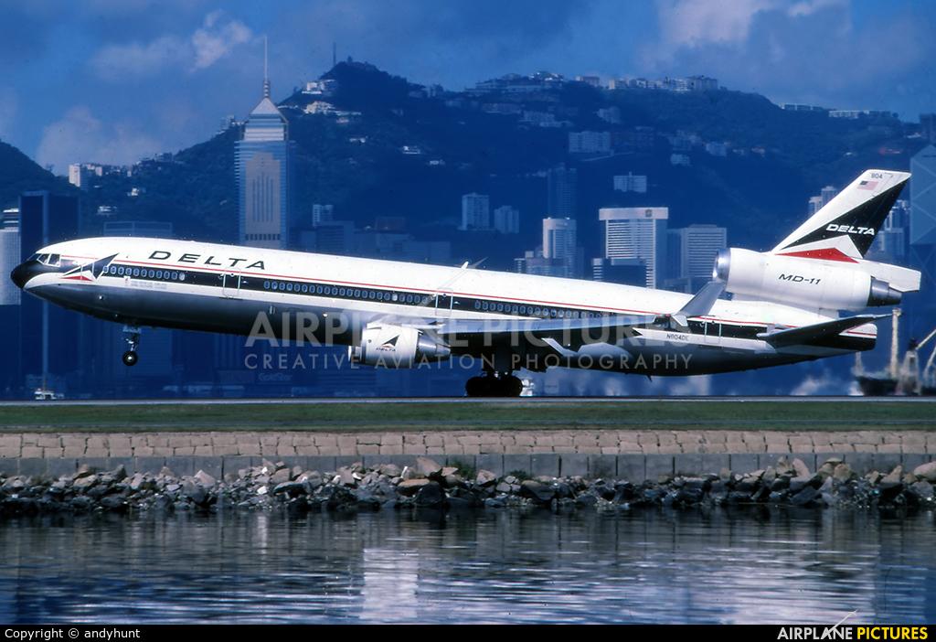 Delta Air Lines N804DE aircraft at HKG - Kai Tak Intl CLOSED