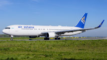 First visit of Air Astana B763 to Warsaw title=