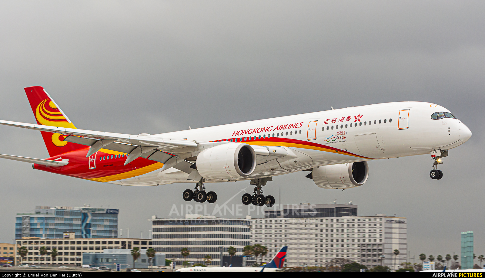 Hong Kong Airlines B-LGC aircraft at Los Angeles Intl