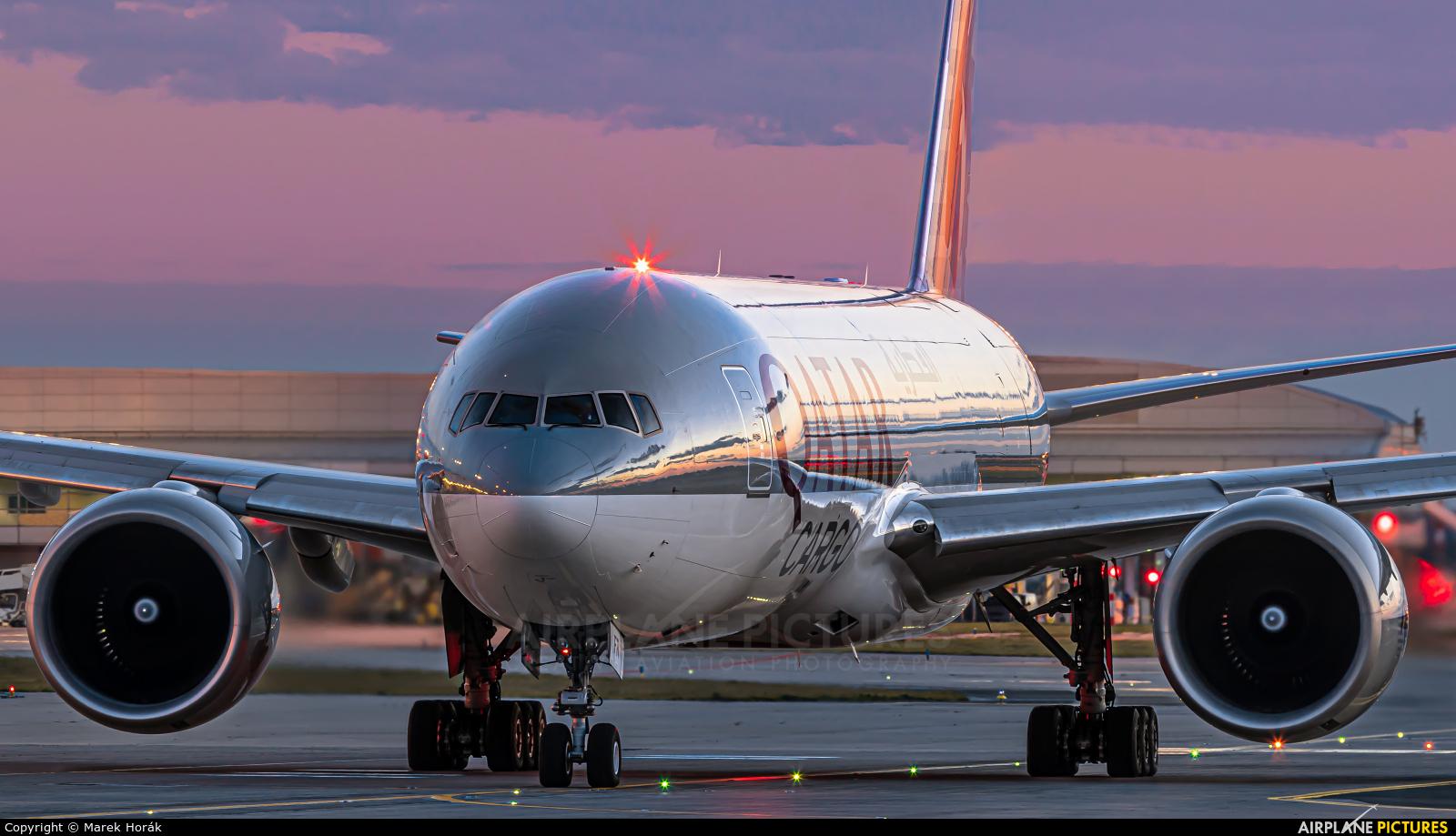 Qatar Airways Cargo A7-BFR aircraft at Prague - Václav Havel