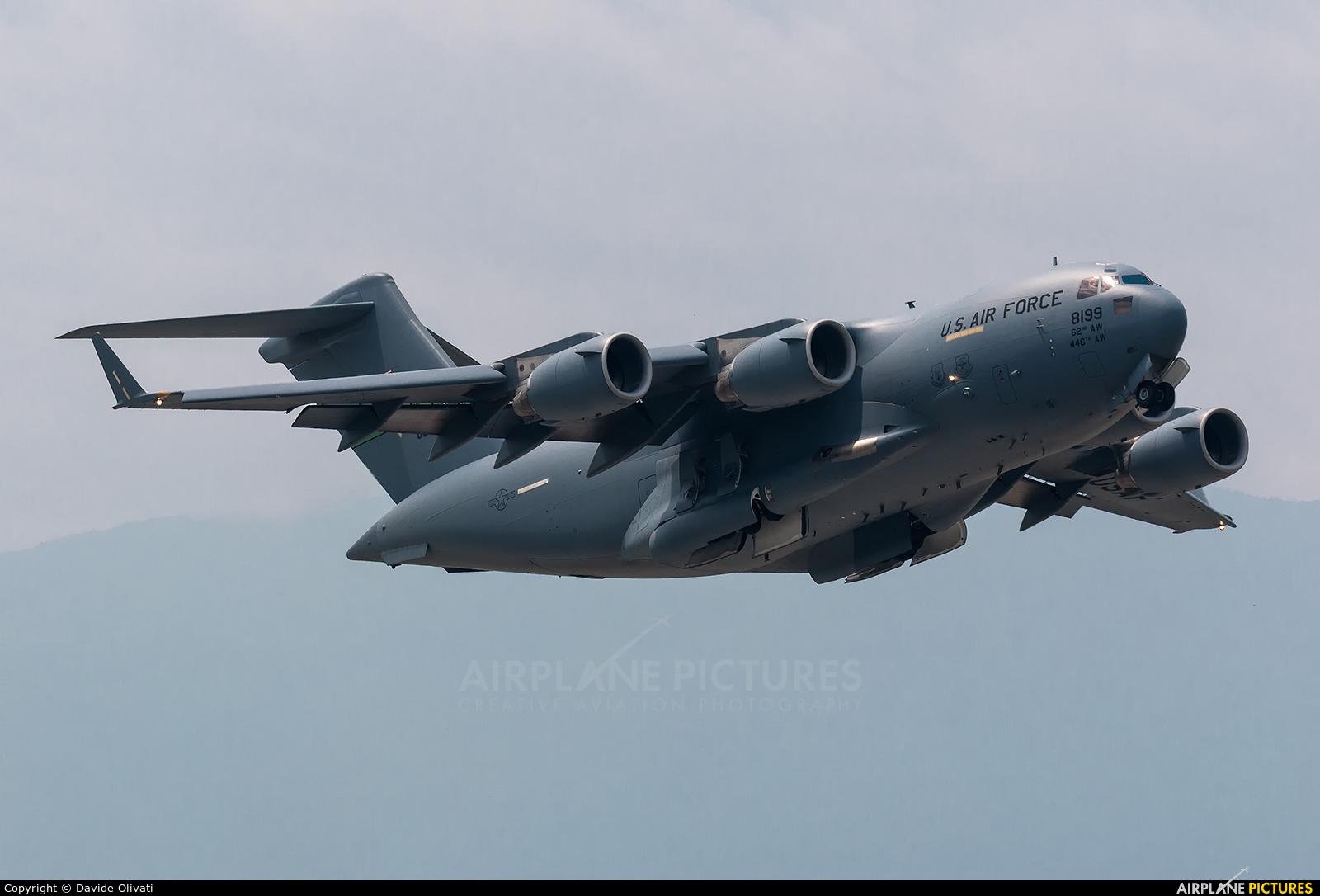 USA - Air Force 08-8199 aircraft at Aviano