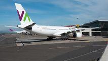 Rare visit of Wamos A330 to San Jose title=