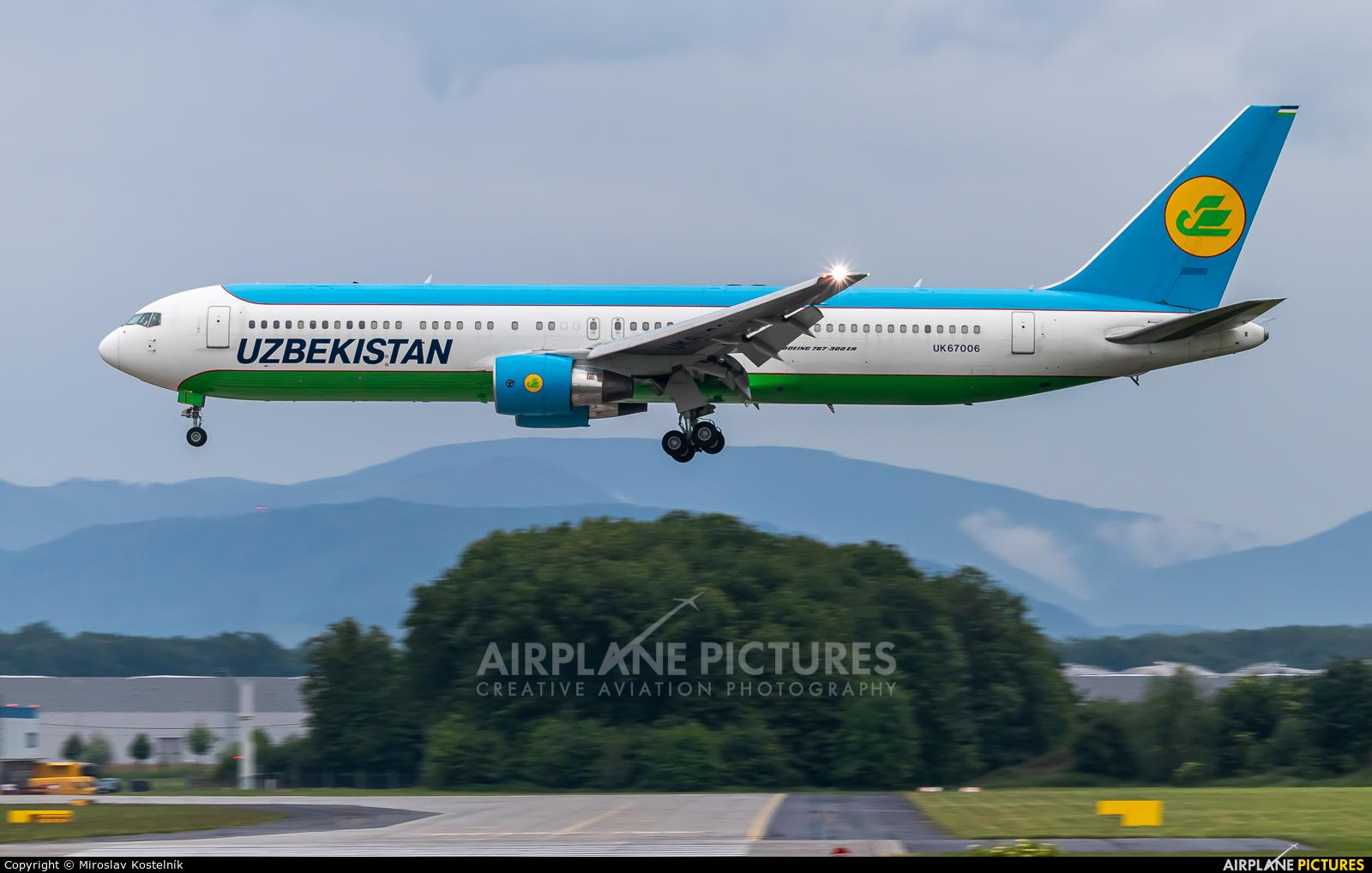 Uzbekistan Airways UK67006 aircraft at Ostrava Mošnov