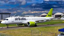 YL-AAS - Air Baltic Airbus A220-300 aircraft