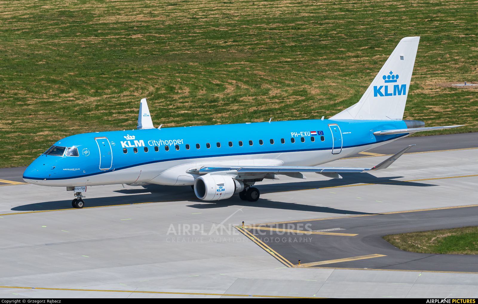 KLM Cityhopper PH-EXU aircraft at Kraków - John Paul II Intl