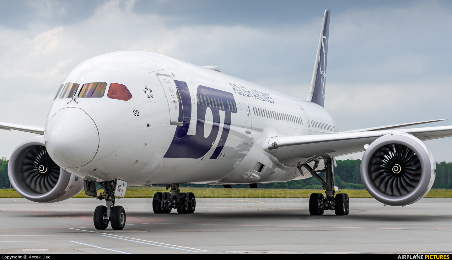 LOT - Polish Airlines SP-LSD aircraft at Wrocław - Copernicus