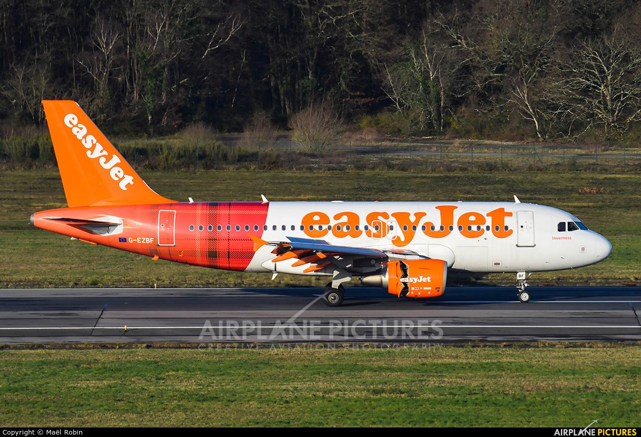 easyJet G-EZBF aircraft at Nantes - Atlantique